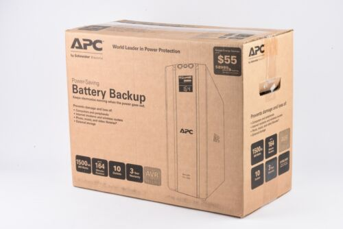 EXC++ APC BR1500G BATTERY BACKUP PRO 1500VA 865W TOWER w/GOOD BATTERIES, BOXED