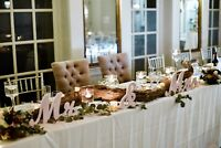 Beautiful rustic wedding decor for rent