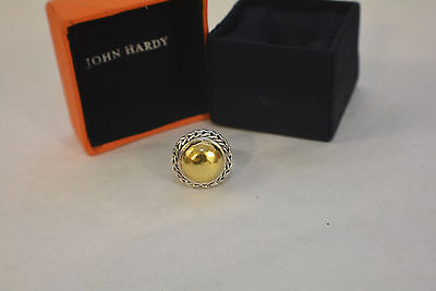 AUTHENTIC JOHN HARDY SILVER .925 and 22K GOLD PALU RING SIZE 7