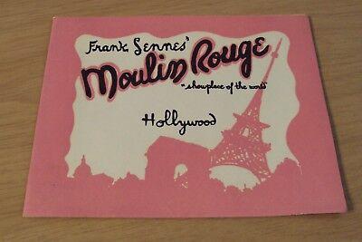 "1950's SOUVENIR Photo/Folder~""MOULIN ROUGE"" Hollywood CA~"