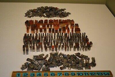 Huge Vintage Lot Of Wood Metal Printers Letterpress Type Blocks Spacers