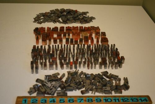 Huge Vintage Lot of Wood & Metal Printer