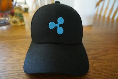 Xrp Ripple Cryptocurrency Black Strapback Baseball Cap Embroidery