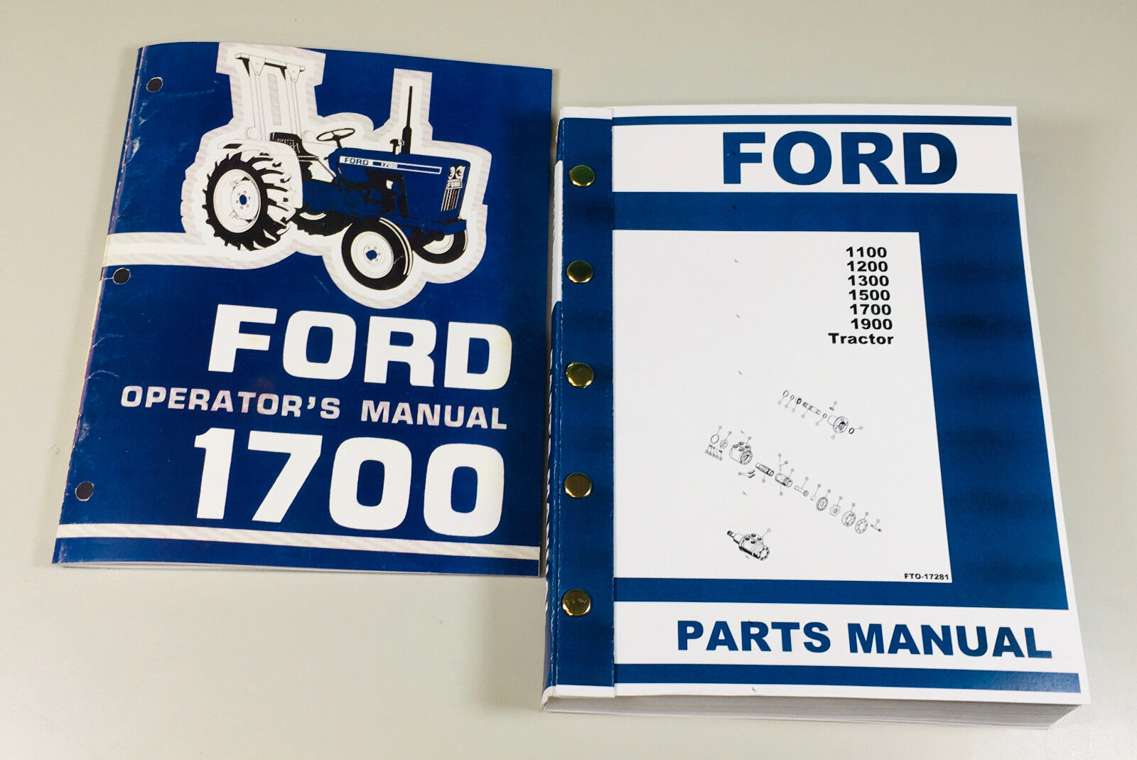 FORD 1700 TRACTOR OPERATORS & PARTS MANUAL. Fully covers all years and  serial numbers
