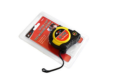 - 16 Feet Tape Measure - Retractable Locking Belt Clip Carry Strap Metric & Inches