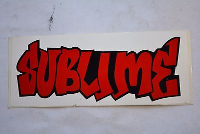 Vintage SUBLIME Red On White Bumper Window Sticker 6""