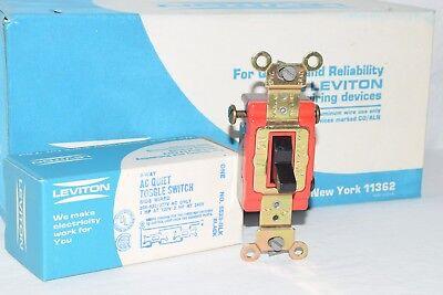 Leviton 5523 3-way AC Quiet Toggle Switch 20A 120/277V Box Of (Box 3 Way Quiet Switch)