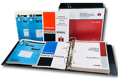 International 674 Gas Tractor Service Parts Operators Manual Engine Chassis