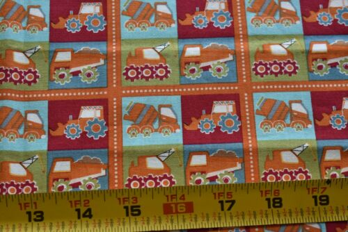 """27"""" Long, Construction Equipment on Quilt Fabric, Fabric Freedom/British, N5056"""