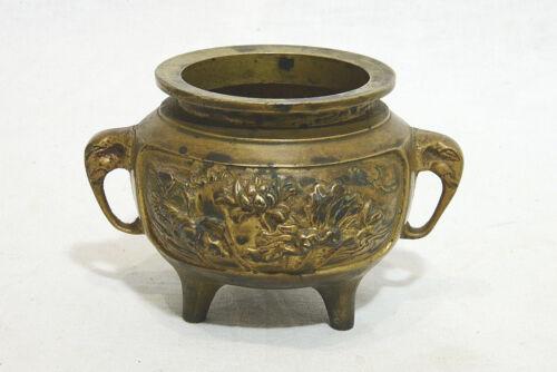 Chinese  Tripod  Bronze  Incense  Burner