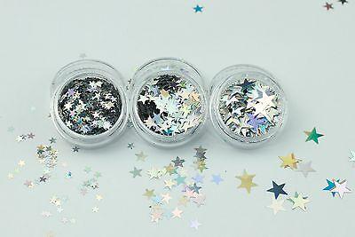 Chunky Glitter Star Shapes-Face Body Eye Festival Club Dance Cosmetic MUA Nail