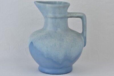 Muncie Pottery 1929 Matt White over Blue Pitcher #176-8