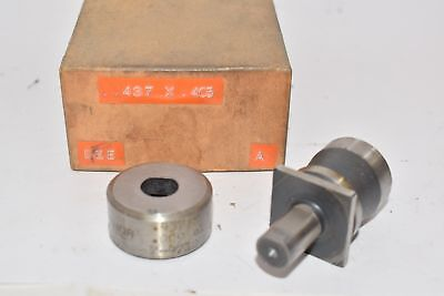 Punch Die Set Roper Whitney Press Diacro Oval .437 X .405 Thor 7-4710
