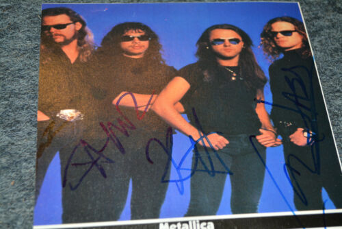 METALLICA signed Autogramm In Person ca. A4 cm JAMES HETFIELD , NEWSTEAD ...