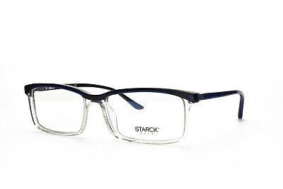 STARCK EYES New Men's Rx Eyeglasses SH3037 0007 Blue Black Clear 56-16-140
