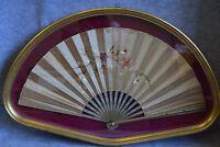 Antico Ventaglio In Seta Cornice Dorata -  - ebay.it
