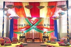 Loveseat, party rentals, backdrop, decorations, and much more