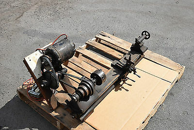 Barnes Vintage Metal Top Instrument Lathe Watchmaker Jewelers Tool Motorized