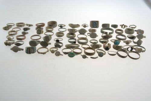 Lot of 73+ Roman Byzantine Medieval bronze rings 100 AD -1100 AD