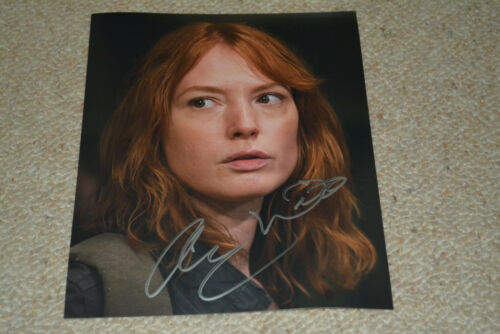 ALICIA WITT signed Autogramm In Person 20x25 cm THE WALKING DEAD