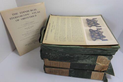 Edinburgh Stereoscopic Atlas of Obstetrics 4 Volumes 1908  Stereoview Medical