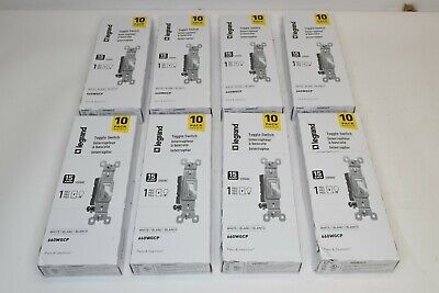 80 Legrand Toggle Light Switch 15a Room Lights Control White Switches 10 Pack
