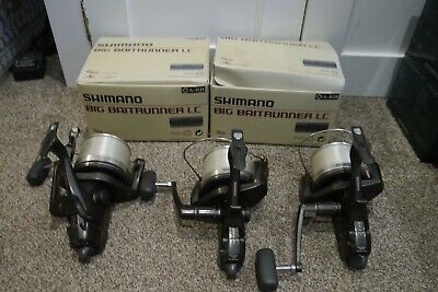 SHIMANO LONG CAST BAITRUNNER REELS X3 BOXED USED CARP COARSE FISHING TACKLE GEAR