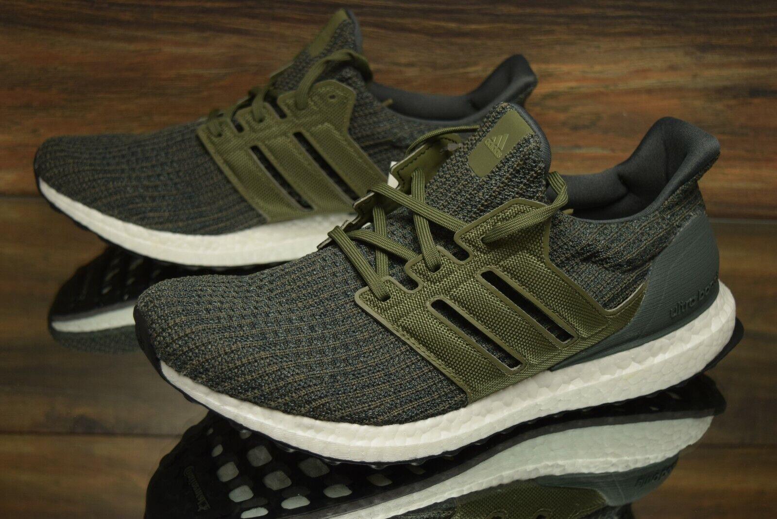 Adidas Men's UltraBOOST Running Shoes Legend Ivy Khaki DB2833 Multi Size NEW