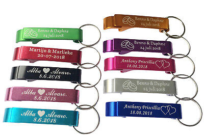 50pcs Personalized Engraved Bottle Opener Key Chain Key Ring Wedding favor gift ](Personalized Wedding Rings)