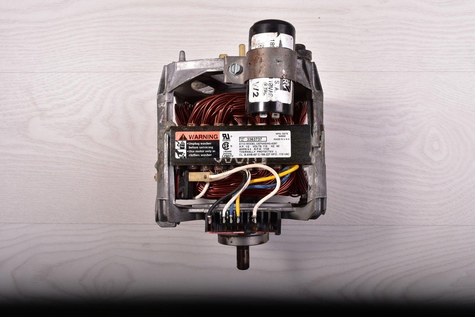 Kenmore Whirlpool Washer Motor 3363737 C67nxehg 4397 Ebay 661600 Wiring Schematic