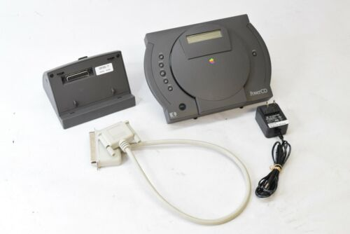 Vintage Apple PowerCD CDROM H0020 w/ Dock SCSI Cable Power Supply - TESTED