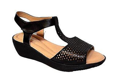 TS shoes TAKING SHAPE sz 11 / 42 Gaynor Wedge black comfy wide-fit NIB rrp$170!