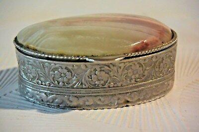 C102 Ancienne boite à bijoux Napoléon avec dessus de marbre