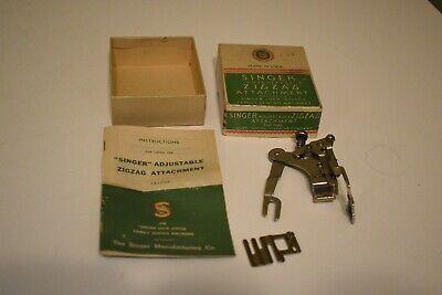 Vintage Singer #121706 ZigZag Sewing Machine Attachment w/Box & Instructions