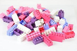 Steckbausteine Bauklötzchen Kinder Bauklötzchen Set Bausteine für Mädchen 100tlg