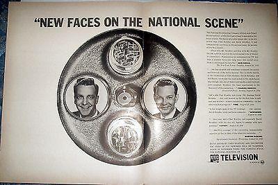 1956 Rare Nbc News Huntley   Brinkley Promo Ad