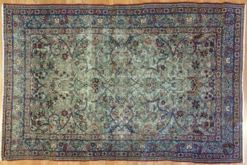 Fantastic Floral - 1900s Antique Oriental Rug - Handmade Carpet - 4.2 X 6.4 Ft.