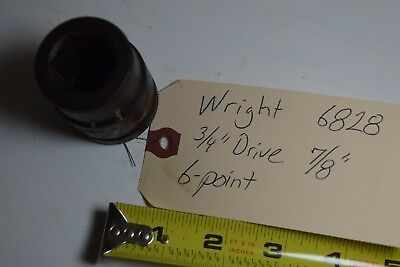 Qty 1 Wright 6828 34 Drive 78 Standard Impact Socket 6-point Wrench Usa