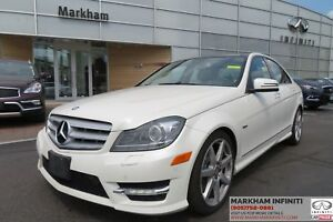 2012 Mercedes-Benz C-Class 4Matic. Leather, Navi, Pano Roof,...