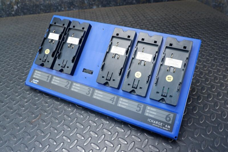 Act iCharge 6M Six Bay Charger & Five iKEN11-NCD Adapters Enrev