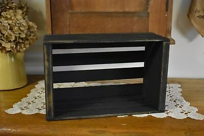 NEW PRIMITIVE COUNTRY BLACK CRATE HOME DECOR