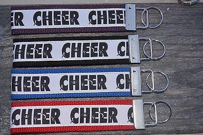 Cheer Keychain, Cheer School Sports Key Chain Key Fob Great Cheerleader Gift