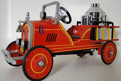 Pedal Car 1920s Ford Fire Engine Red Truck Vintage Midget Metal Show Model Art