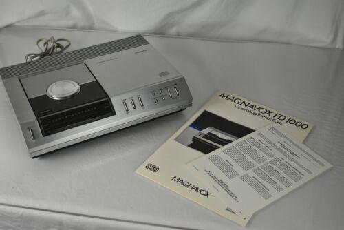 Vintage MAGNAVOX FD1000 CD Player w/ Original Manual