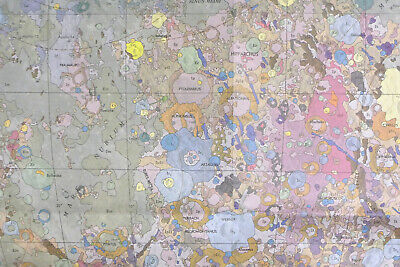 Geological Map of MOON 1971, APOLLO Landing Sites, NASA, US Geological Survey