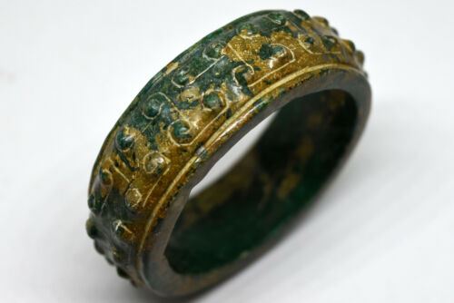 Ancient Asian Middle Eastern Turquoise Bangle Bracelet