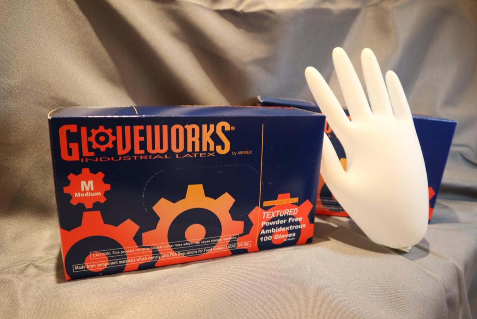 100 PCS Latex & Latex Examination Gloves Powder Free Wholesa