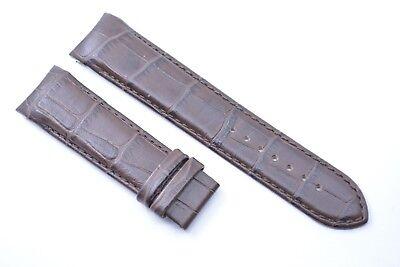 Original Tissot Couturier Uhren armband 22 mm Kroko Braun Echtleder T610028596