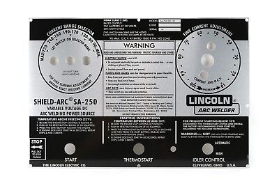 Lincoln Sa-250 Perkins 3.152 Faceplatenameplate Bw661