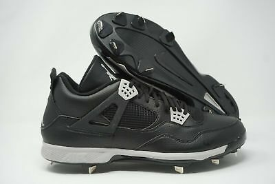 8ea44d65d8cf8c NEW NIKE AIR JORDAN RETRO IV OREO METAL BASEBALL CLEATS 807710 BLACK GREY  SZ 13